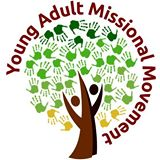Young Adult Missional Movement logo - tree made of hands illustration